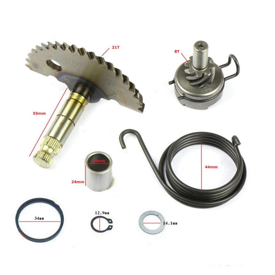 For 49cc 50cc 80cc GY6 Scooter Moped Kick Starter Start Shaft Idle Gear Spring