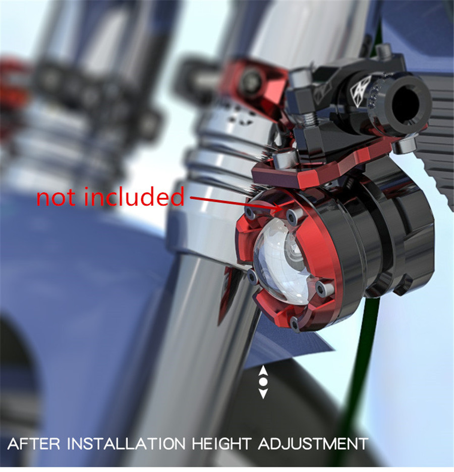 universal motorrad lenker gabel zusatzshalterung alu 32mm. Black Bedroom Furniture Sets. Home Design Ideas