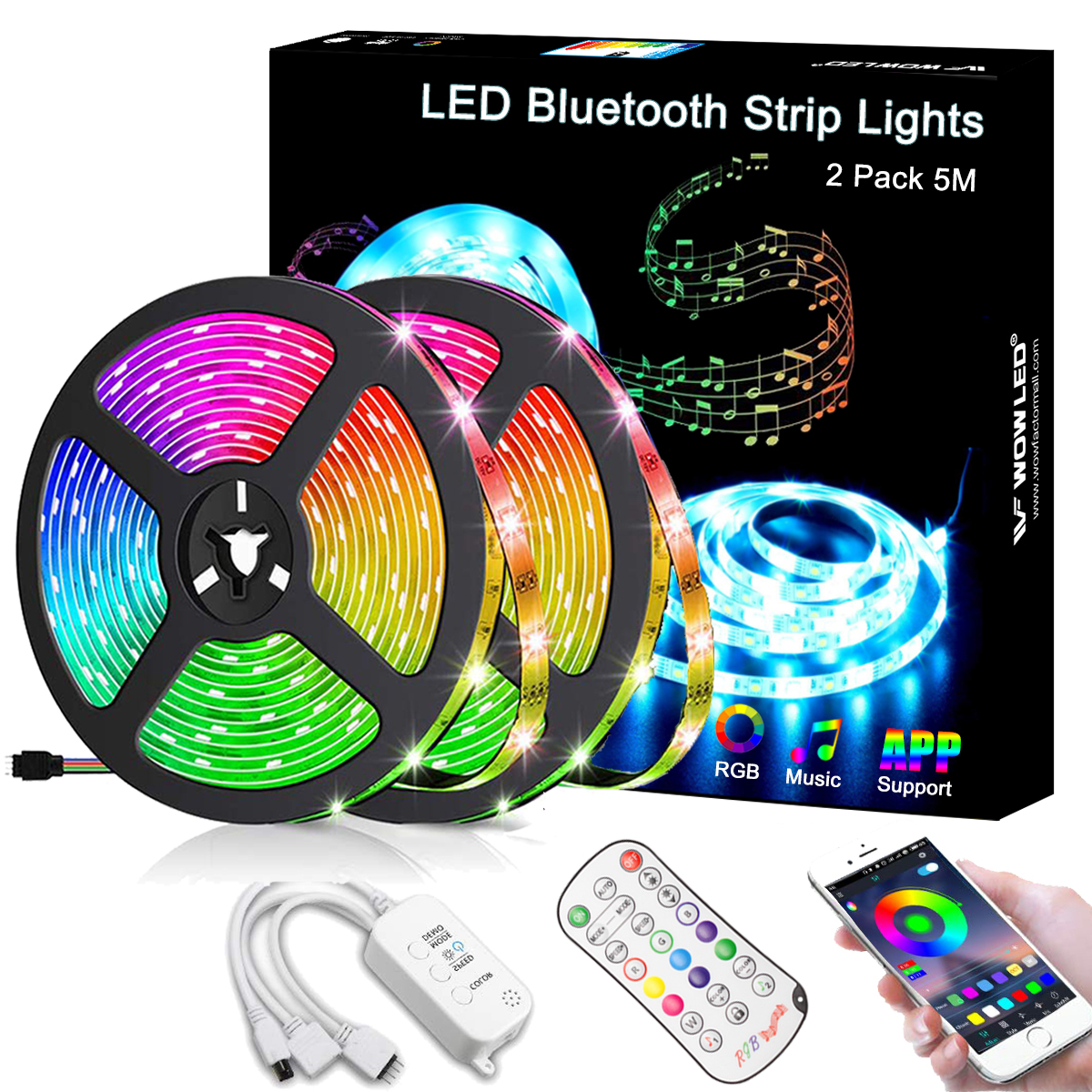 10m Bluetooth Music Rgb Led Strip Light