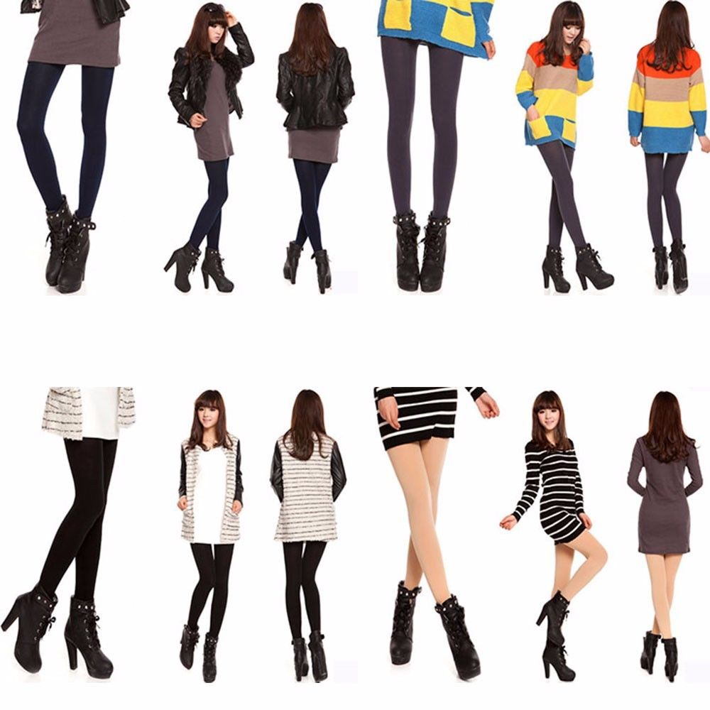 3d7b9d5a4cea0 Women's Thermal Thick Warm Fleece Lined Fur Winter Tight Pencil Leggings  Pants