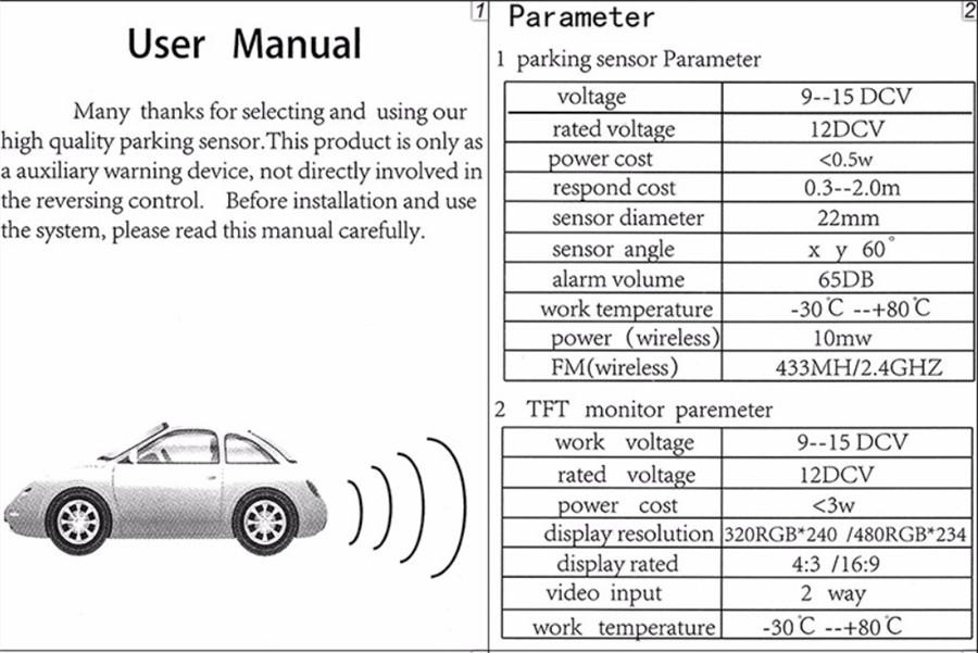Details about Universal Car SUV 4 Parking Sensors 13mm Reverse Backup Radar  Sound Buzzer Alarm