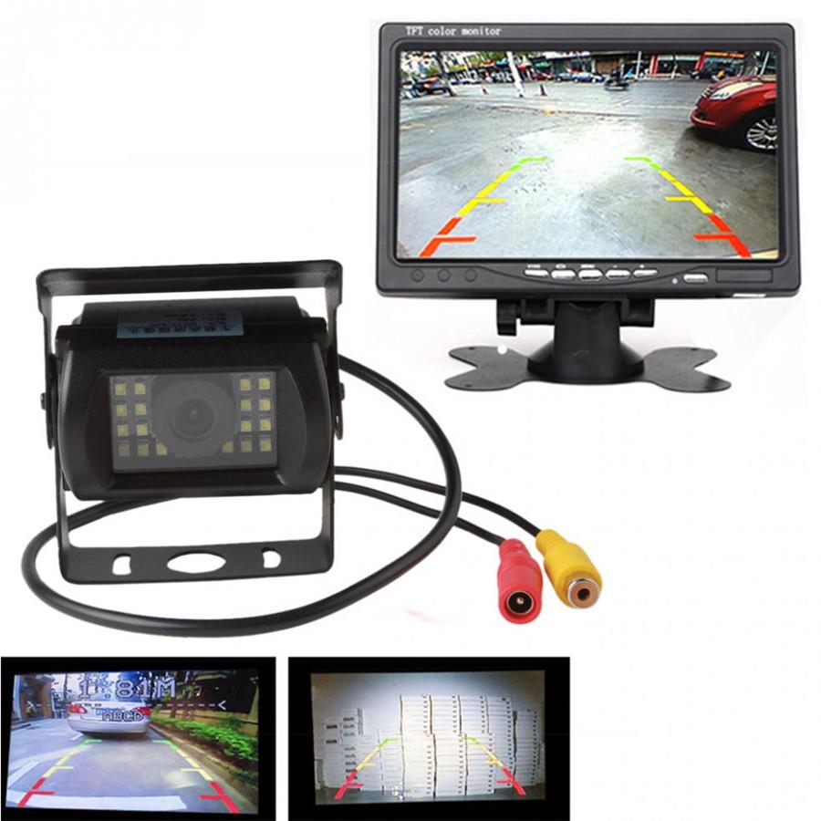 1X 24 LED 170Degree Bus Night Vision Car Rear Camera Waterproof adjustment IP67