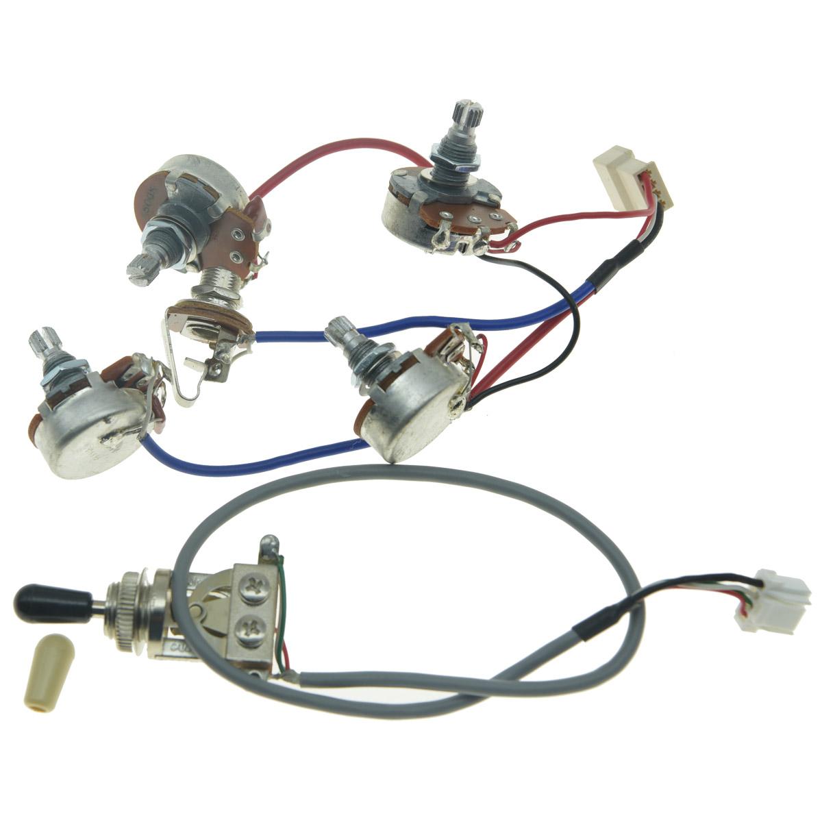 Original Lp Guitar Pickup Wiring Harness W Alpha Js Pots For Epiphone Les Paul Ebay