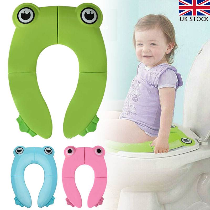Toddler Kids Baby Folding Potty Seat Cover Toilet Training Seat Pad Reusable
