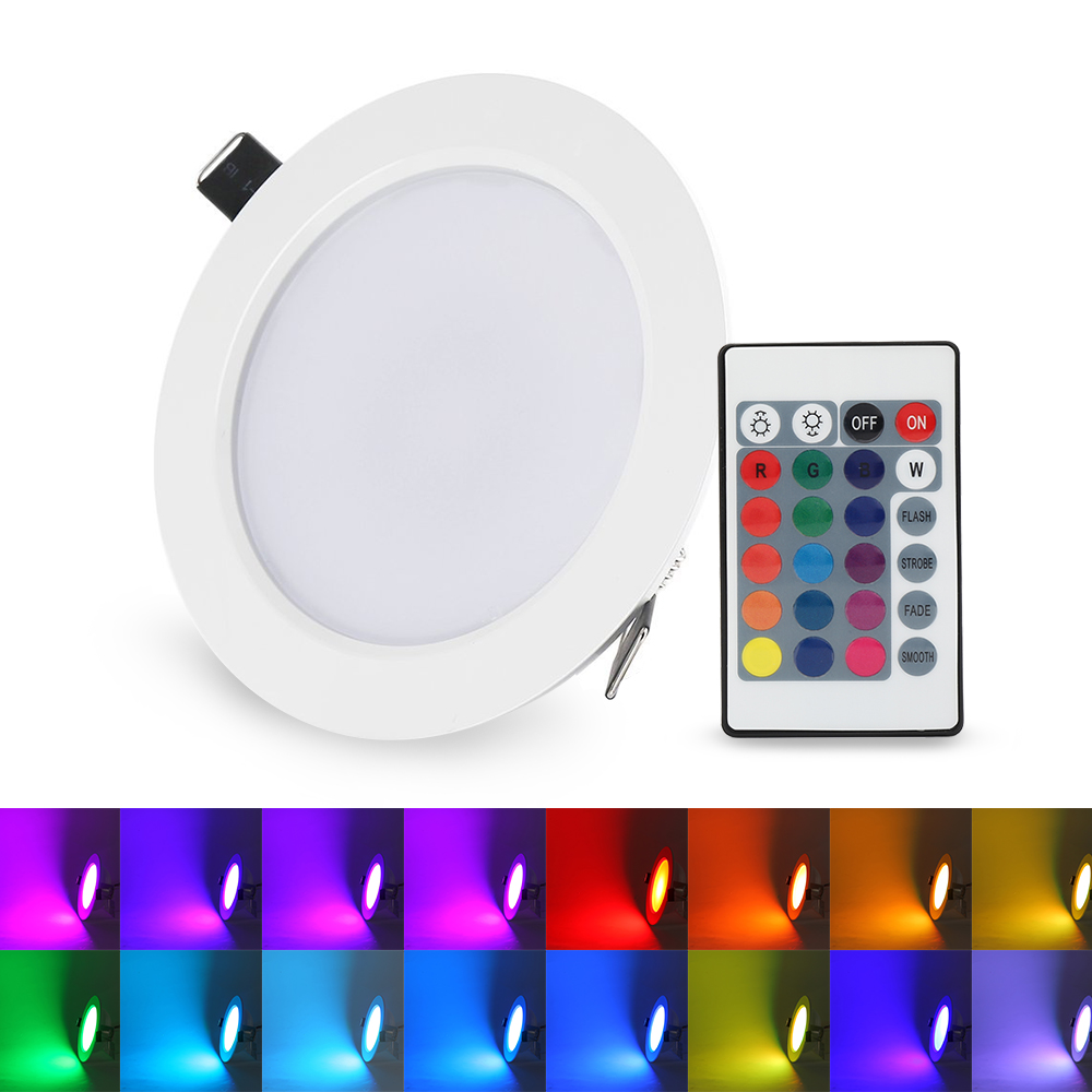 5Pcs 5W Dimmable RGB LED Panel Light Concealed Recessed Lamp Ceiling Downlight