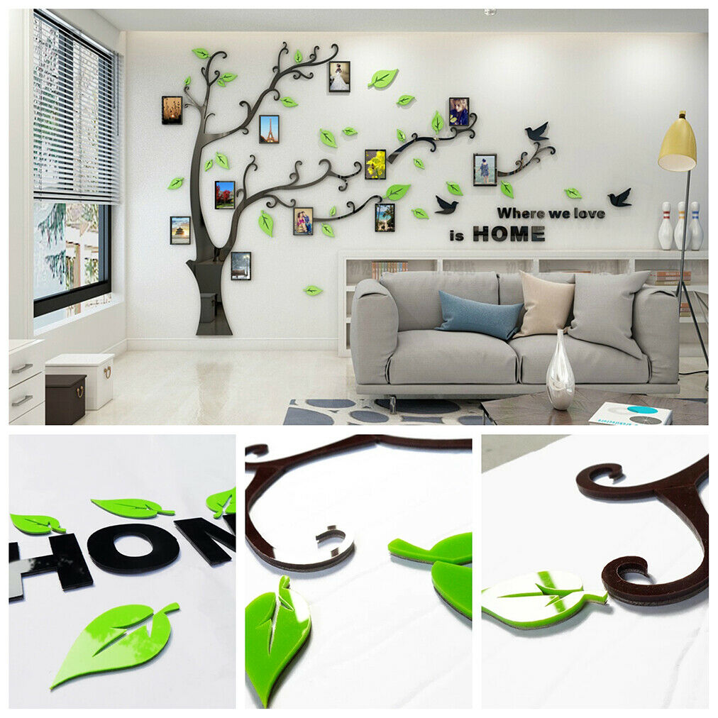 3D Tree Decal Vinyl Decor Art Home Living Room Wall Sticker Photo Frame Mural