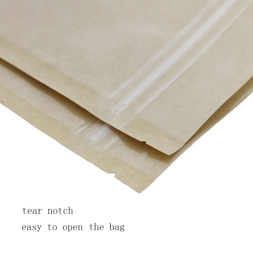 Details about Many Sizes for Clear Front Kraft Paper Back Mylar Stand Up  Zip lock Bag M34
