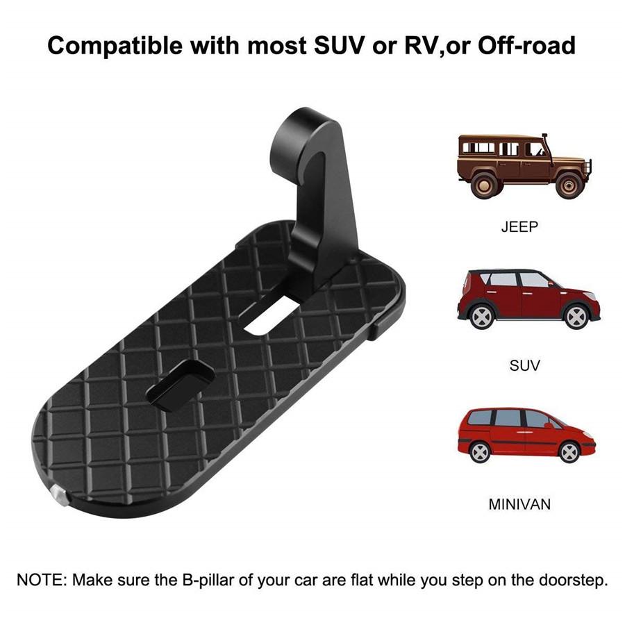 Overlanding Gear Car Door Step Hook for SUV RV Kayak Car Rooftop Doorstep Overland Gear Parts Lifetime Replacement Guarantee