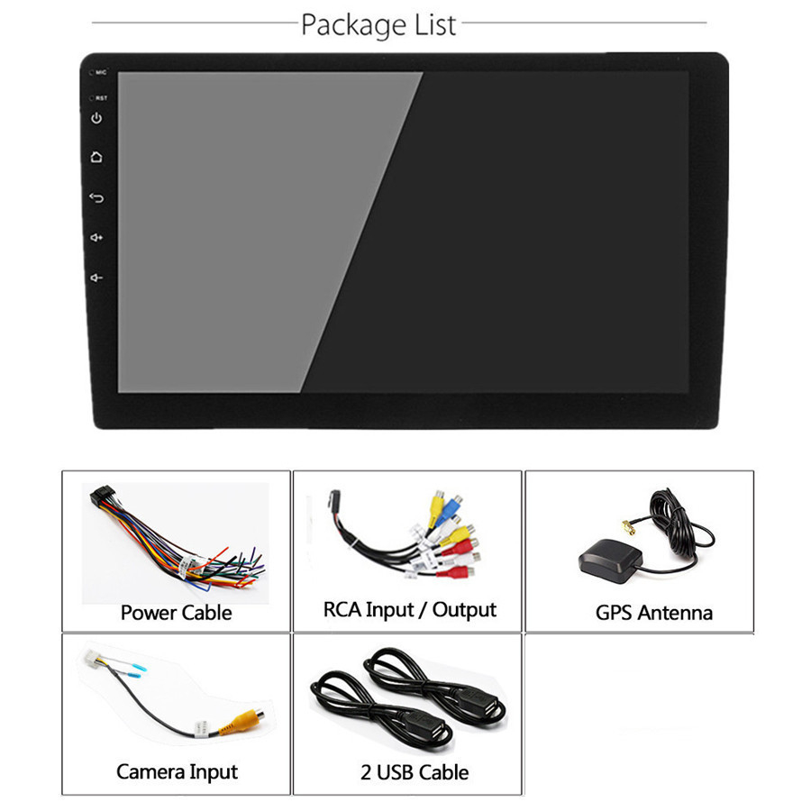 "10.1/"" Ultra-thin Android 8.0 Octa-Core 4CPU+4GPU 1+16G Car Stereo Radio GPS Wifi"