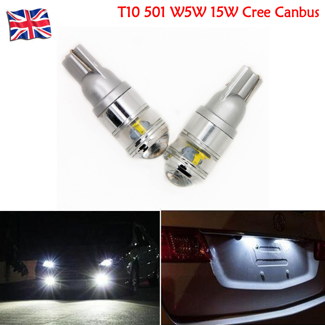 Fits: Seat 2x CANBUS 501 Bulbs LED White T10 5W Error Free 2013 Car Sidelights
