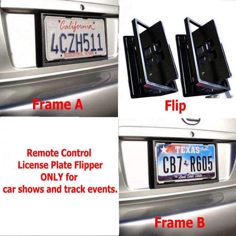 EU Remote Control Turning Stealth Hidden Flip License Plate Frames,Plate Flipper