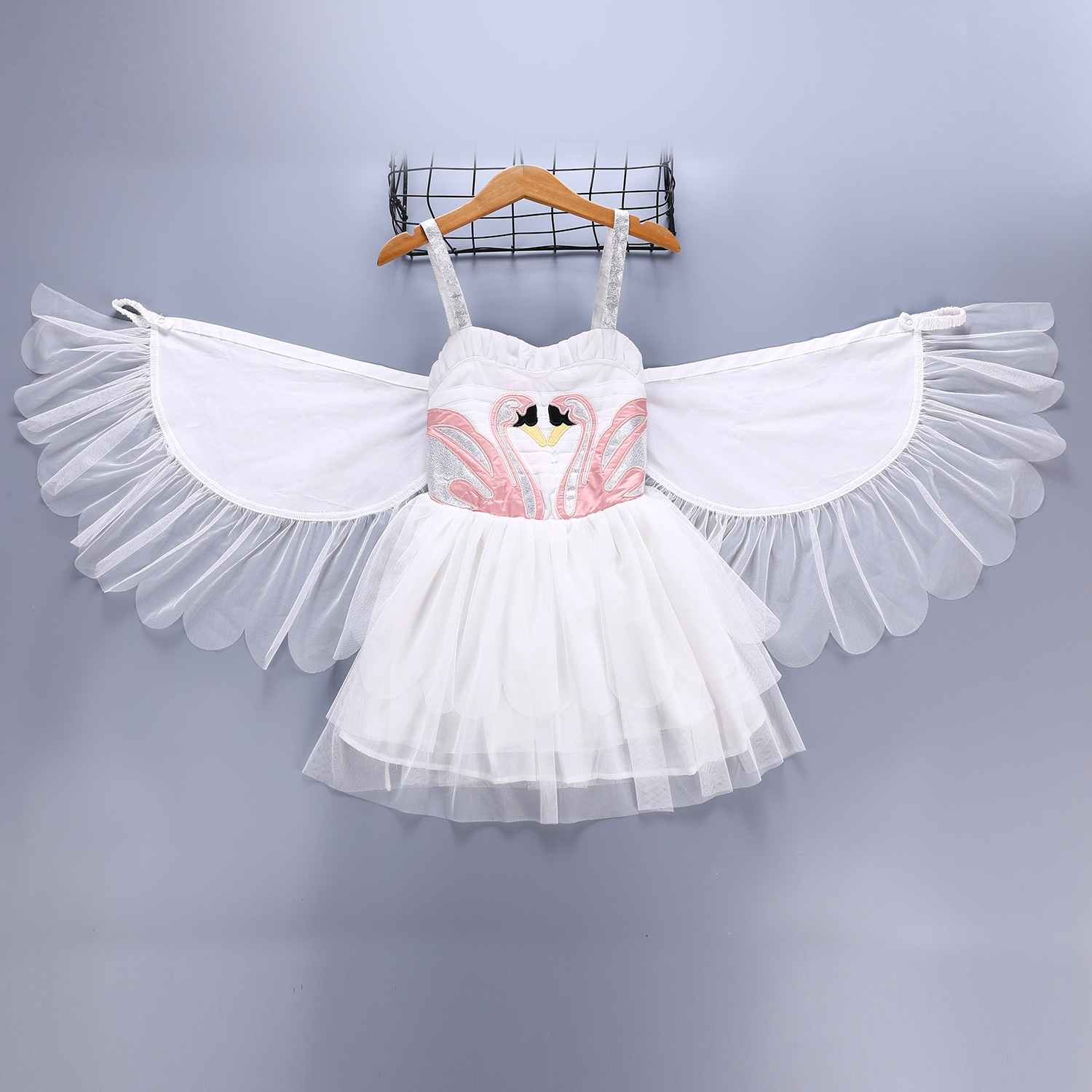 33186b8238098 Details about Flamingo Tutu Girls Dress Dance Clothes Baby Kids Christmas angel  Party Dresses