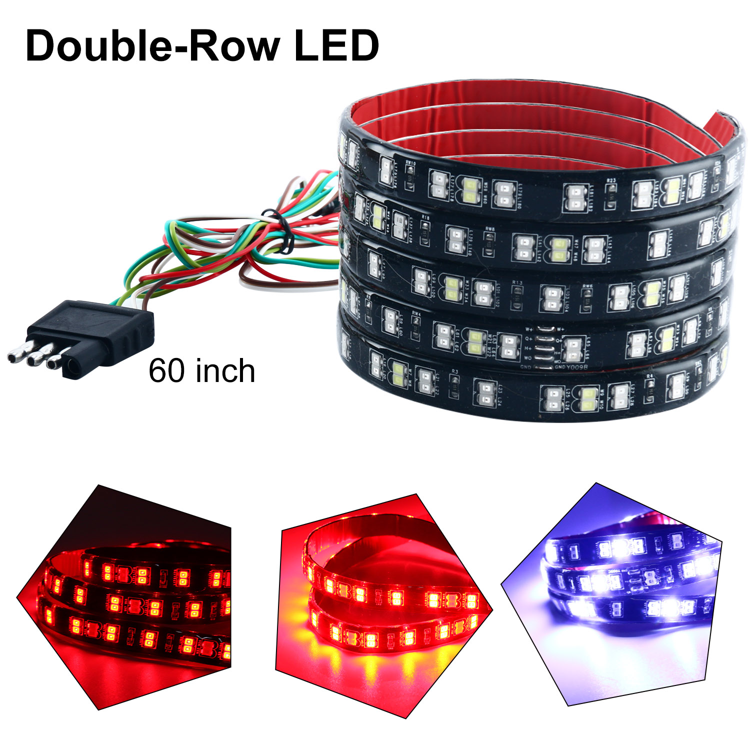 package includes: 1 x 150cm tailgate led strip light 4 x silicone fixed  buttons 8 x screws 1x installation manual