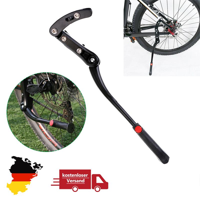 Fahrradständer Seitenständer Parkstütze schwarz 24-29 Zoll Alu Fahrrad Ständer