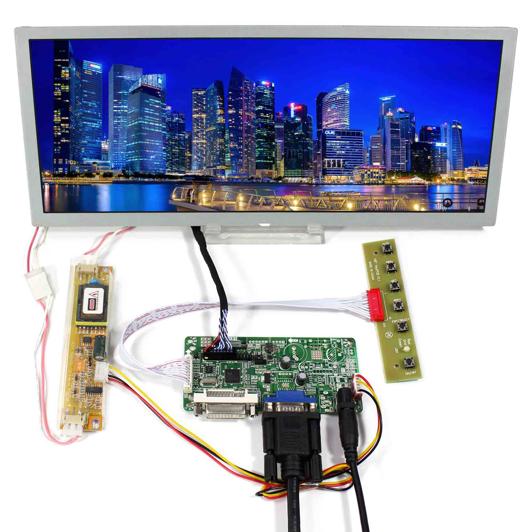 Details about DVI VGA LCD Controller Board With 12 3