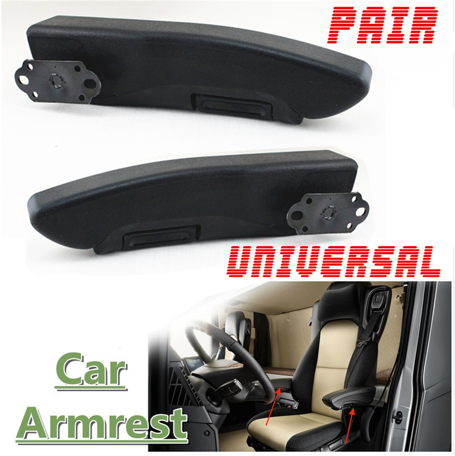 Adjustable Car Truck L+R Arm Rest Seat Arm Console Clamp//Drilling 0-120 Degree