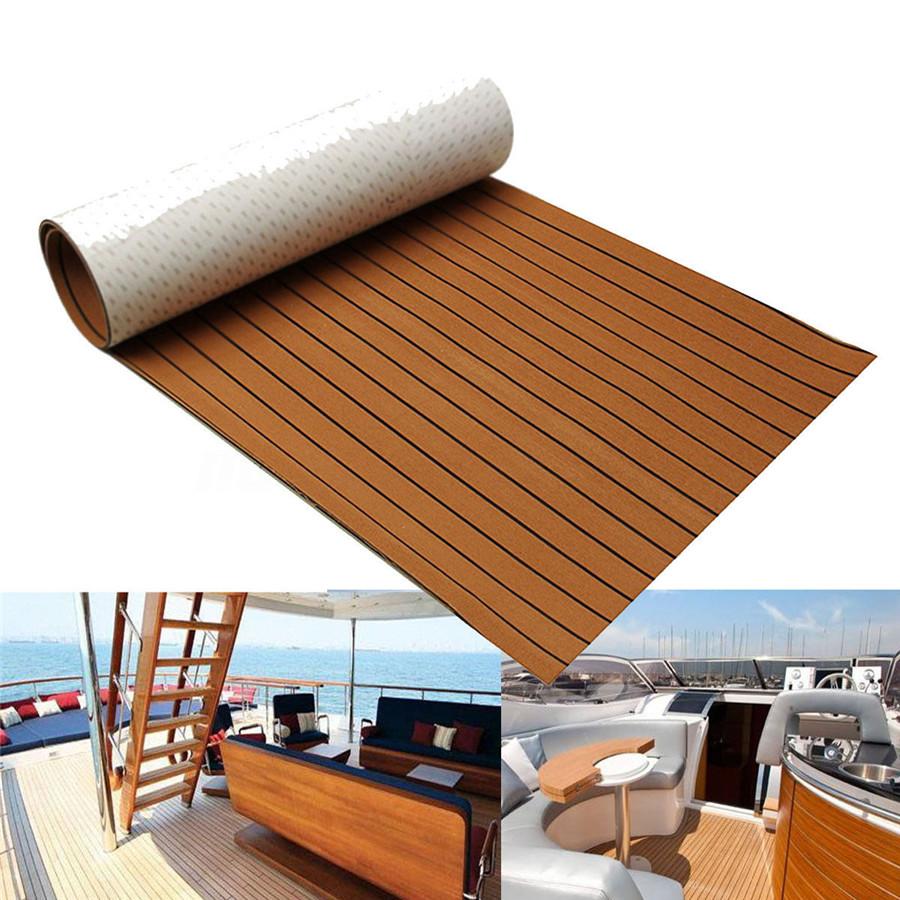 21.7x94/'/' EVA Foam Teak Decking Floor Mat Car Truck Boat Marine elf-Adhesive Pad