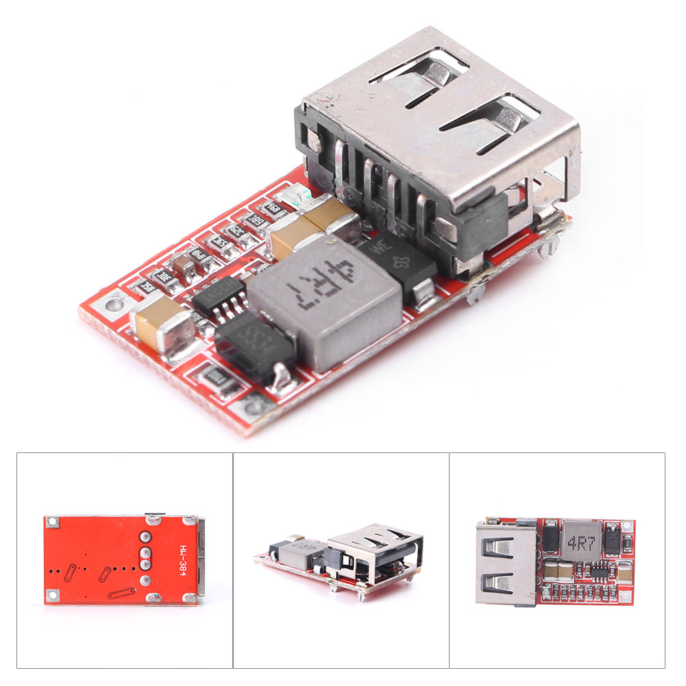 Fine 6-24V 12V//24V to 5V 3A CAR USB Charger Module DC Buck step down Converter