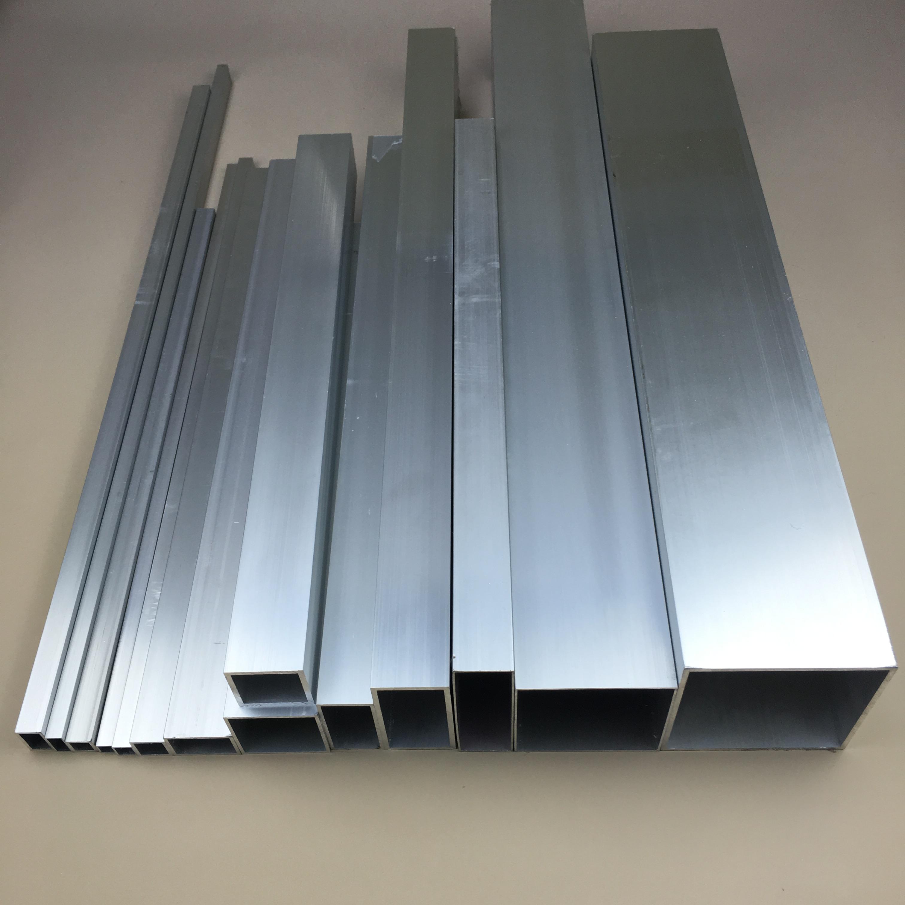 Aluminium Square Box Section Tube 25mm Square 500mm Long