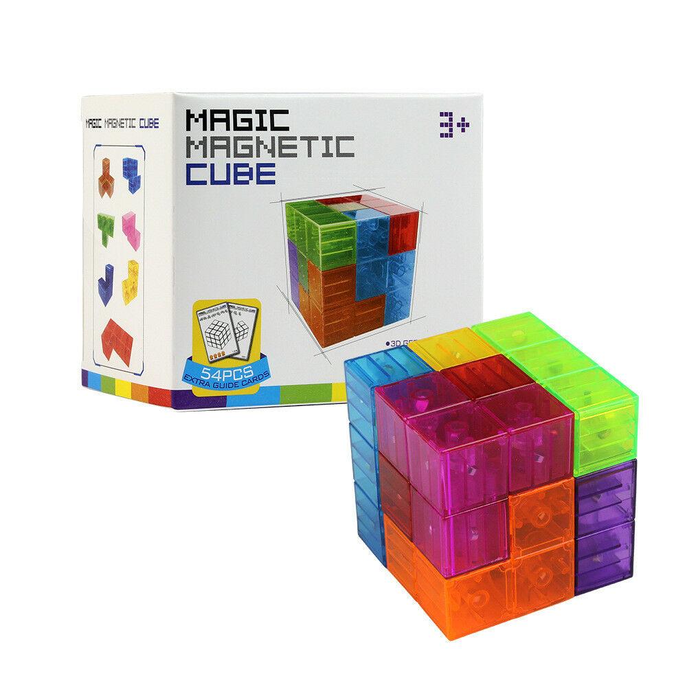 Magnetische Bausteine Fliesen Kinder Lernspielzeug Stressabbau Spielzeug Spiele