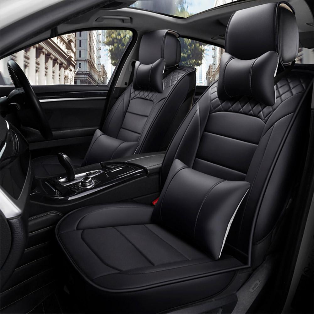 BLACK AUDI A3 EXTRA HEAVY DUTY CAR SEAT COVERS PROTECTORS X2 WATERPROOF