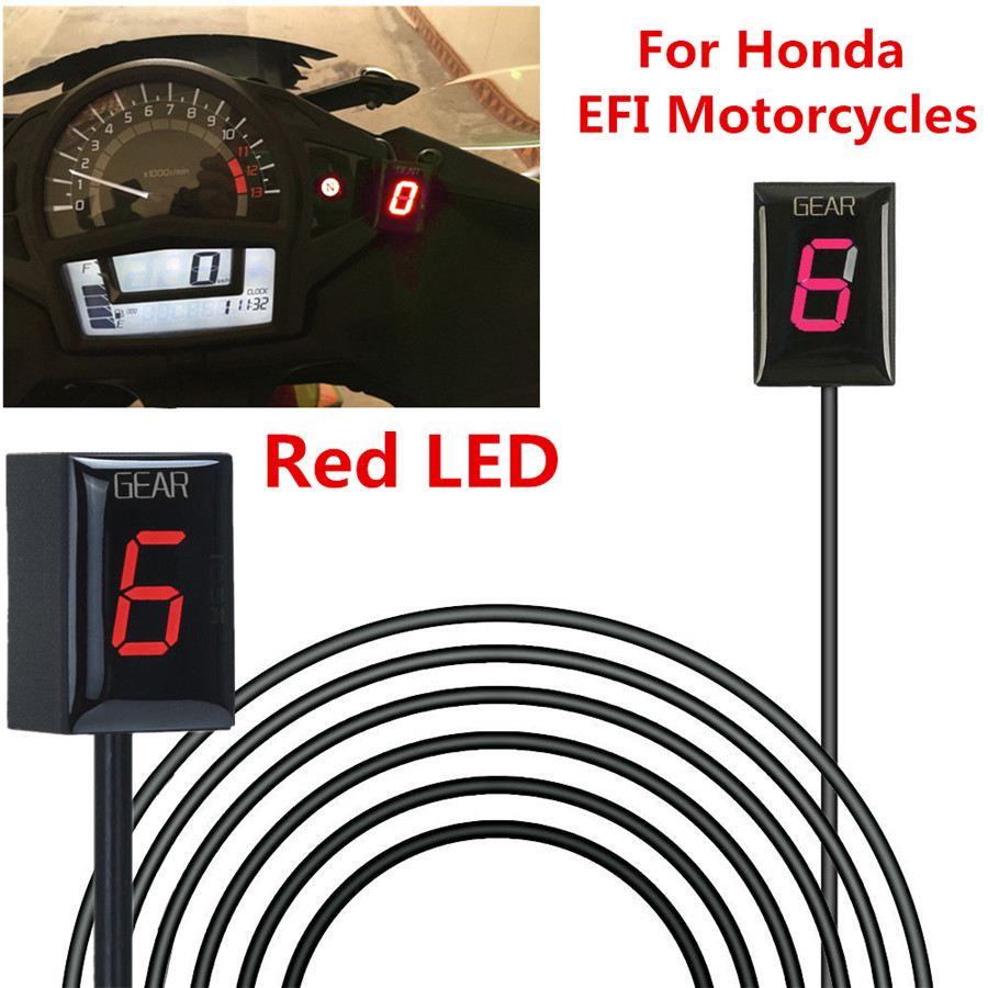 Old Year Model, Red IDEA Waterproof Motorcycle Gear Indicator LED Display Plug /& Play for Honda