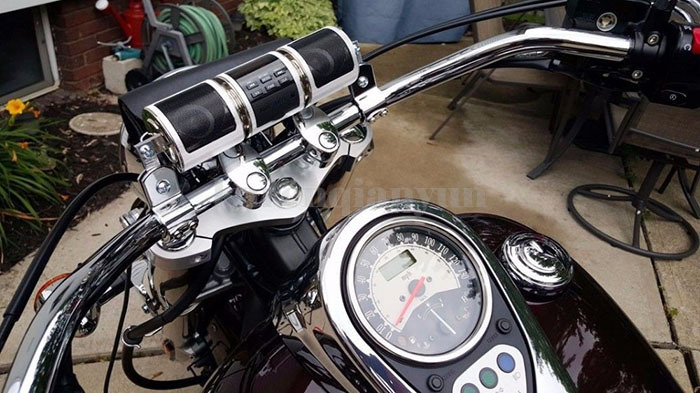 bluetooth motorrad roller 22mm lenker lautsprecher speaker. Black Bedroom Furniture Sets. Home Design Ideas