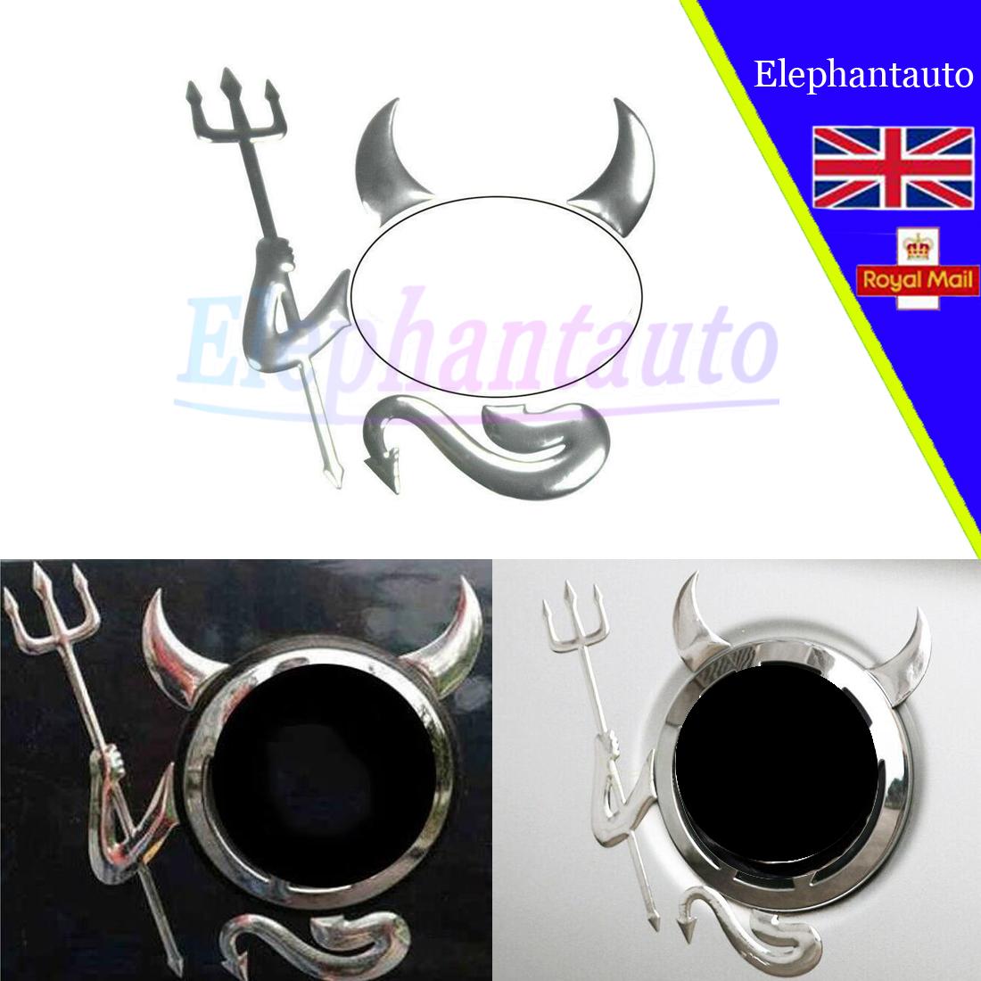 3D Stickers Devil Style Sliver Sticker Emblem Decal Decoration Logo