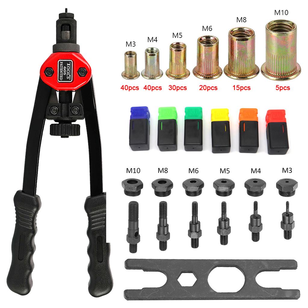 New Premium Easy Automatic Rivet Tool Set Dual-hand Manual Rivet Nut Tool Set