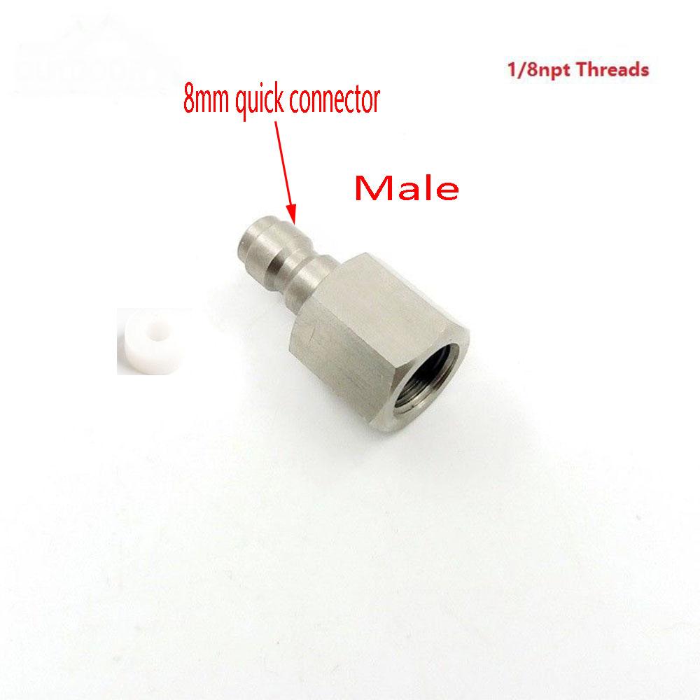Paintball PCP Edelstahl 8mm Schnellspanner Trennen Koppel Doulbe Stecker Plug