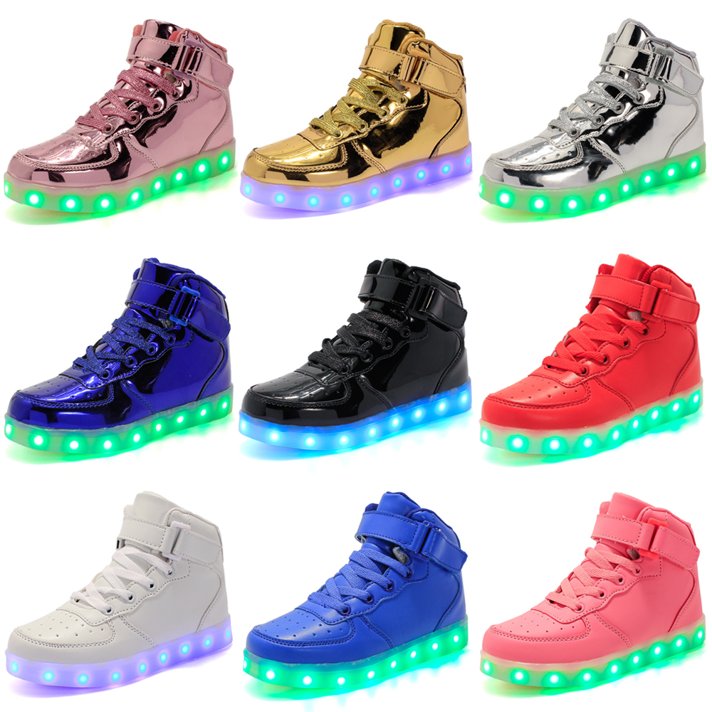 7 Color Children Kids LED Light Up luminous Shoes Boys Girls Casual Dance Shoes