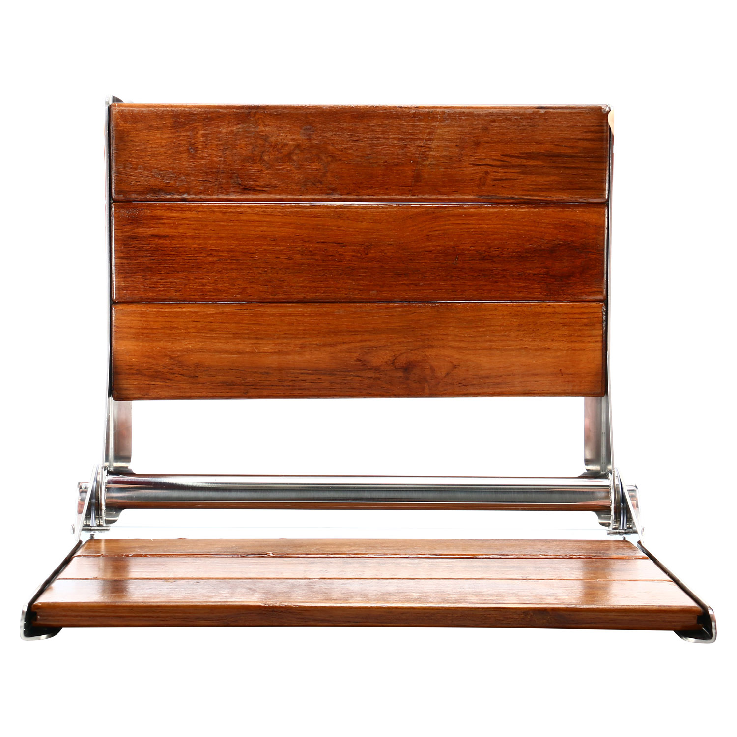 Details About 18 Folding Teak Wood Shower Bench Seat Wall Mount Chair Foldable Us
