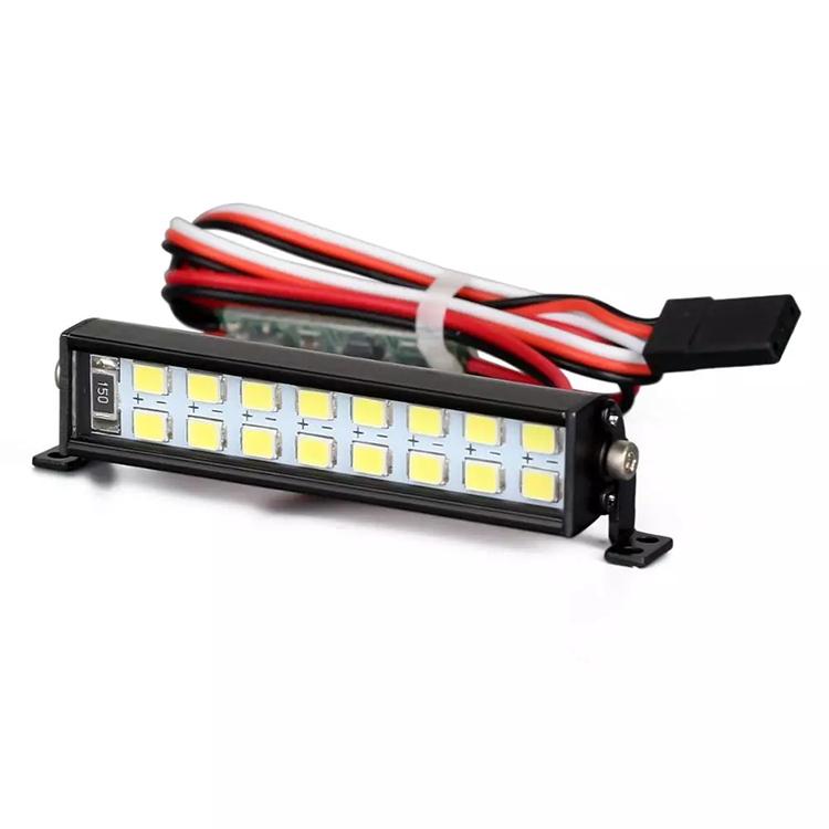 For SCX10 D90 TRX4 1//10 RC Climbing Car Spotlight Dual-Row Roof Lamp Light Kit