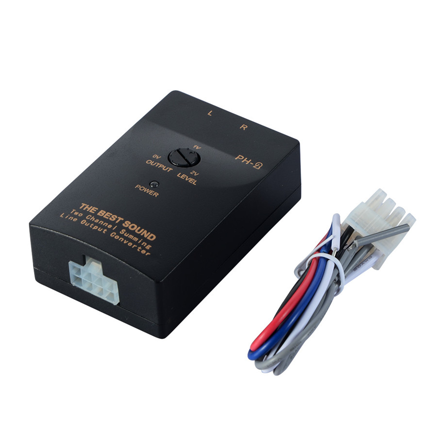 Car Audio RCA Speaker High To Low Level Line Output Converter + ...