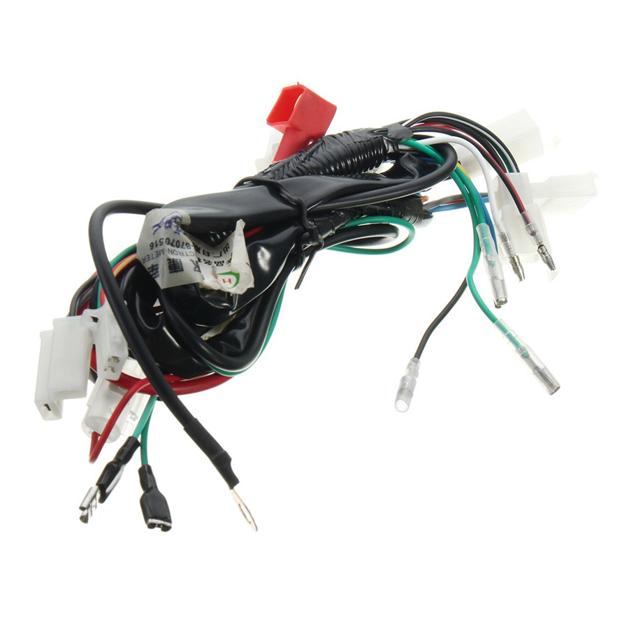 Motorcycle Electric Start Wiring Loom Harness For Pit Bike Atv Quads 50cc 125cc