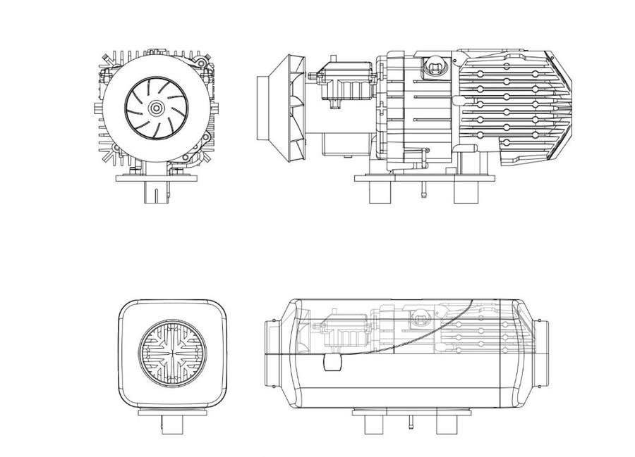wireless independent diesel heater 5kw car motorhome air