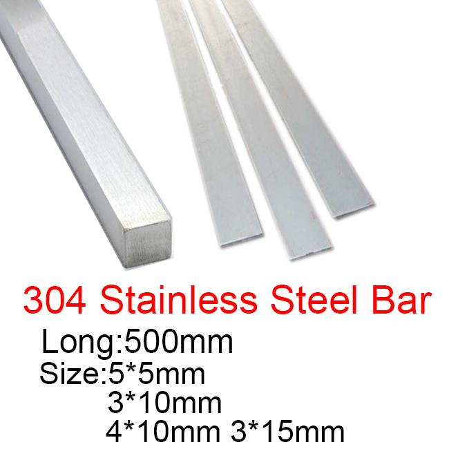 Stainless steel flat bar 304 spec 25mm x 10mm x 250mm