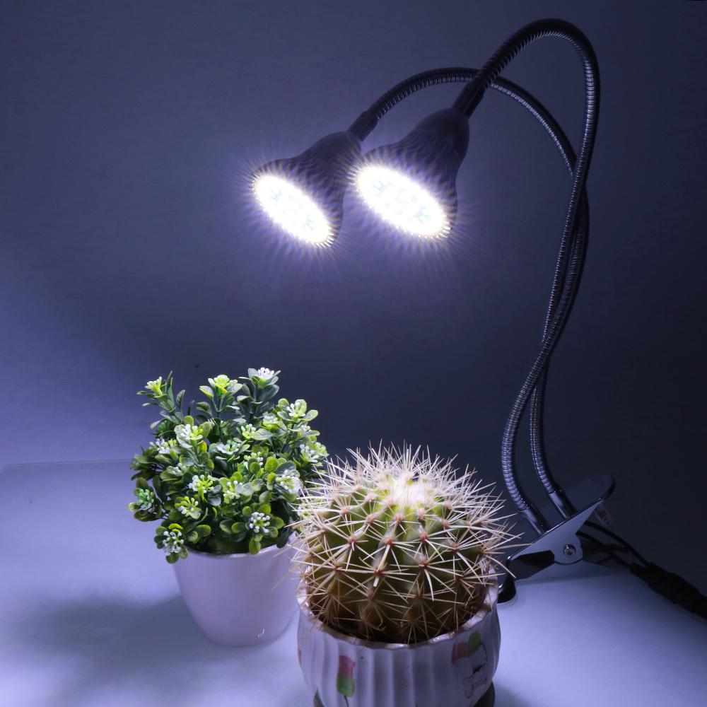 24W LED Aquarium Lamp 84Leds Dual Head Clip on Fish Tank Plant Grow Light 360°
