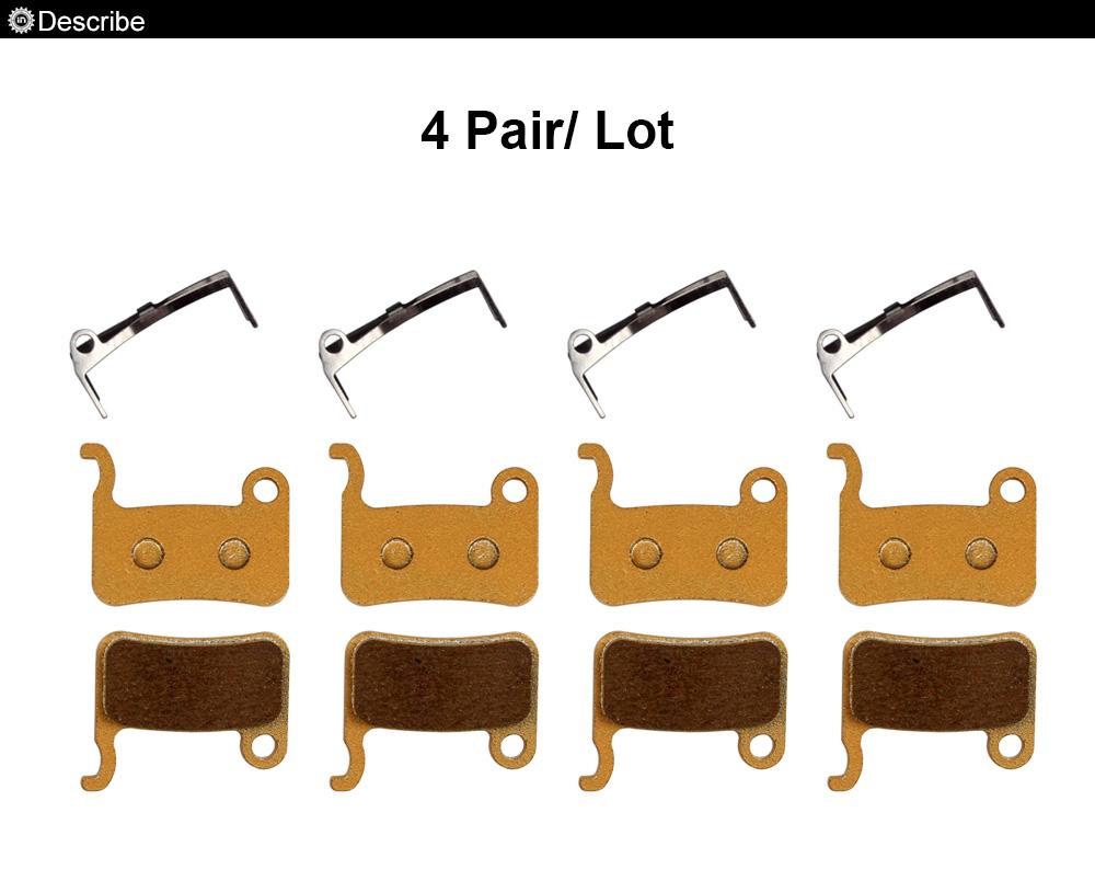 ORGANIC DISC BRAKE PADS FOR SHIMANO XT SLX LX HONE DEORE M775  4//8 pairs
