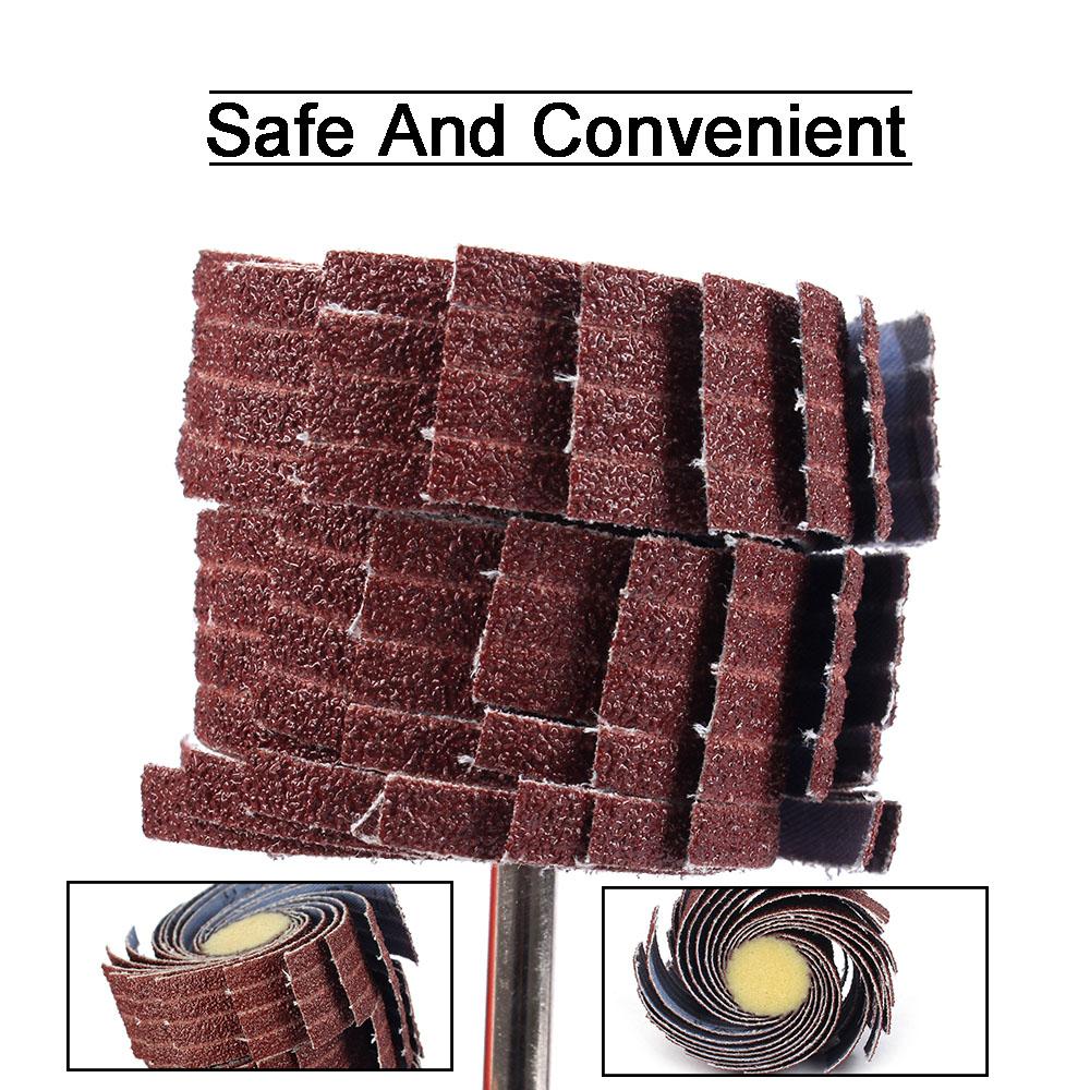 "3/"" Emery Cloth Sandpaper Brush Abrasive Flap Wheel Grinding 6mm Shank 80~600Grit"