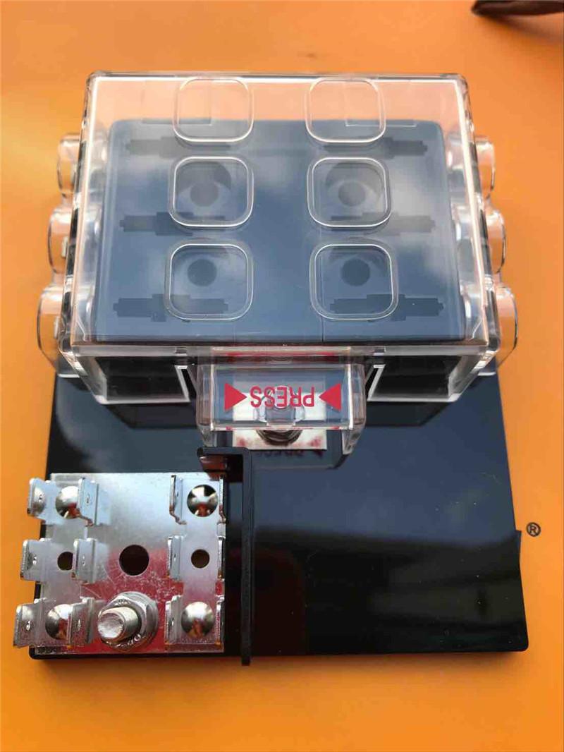 6 Way Circuit Car Auto Automotive Blade Fuse Box Holder Dc32v Atc Kia Rondo Ato Block With Cover For Vehicle Truck Boat Marine Maximum 32v