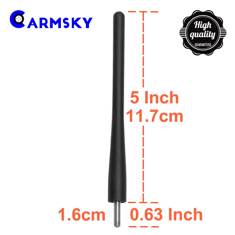 5Inch Black Aluminum Alloy Short Antenna Mast For 2000-2019 Toyota Tundra