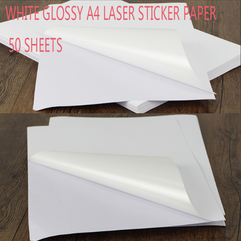 20 Sheet Laser Label Paper Shinning Pattern Self Adhesive Print Sticker Decal