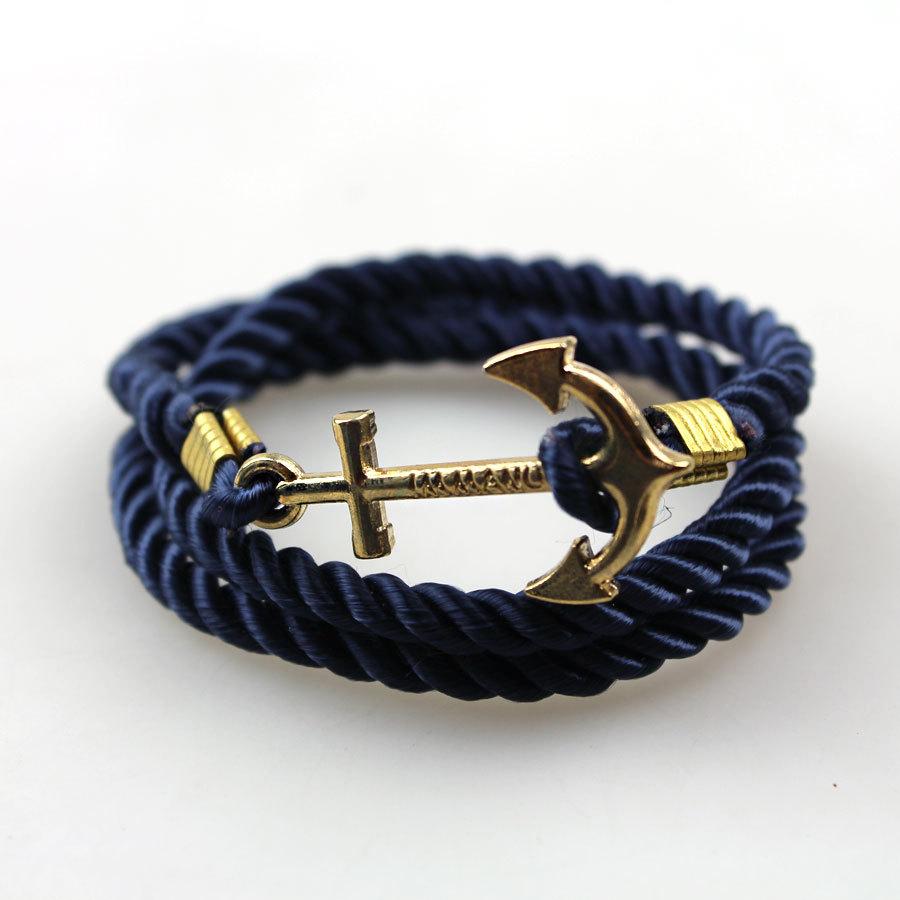 New Men\'s Rope Wristband Bracelet Handmade Multilayer Women ...