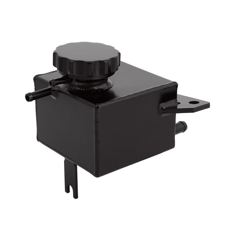 Alloy Coolant Expansion Overflow Tank Reservoir for Subaru Impreza WRX STI Black
