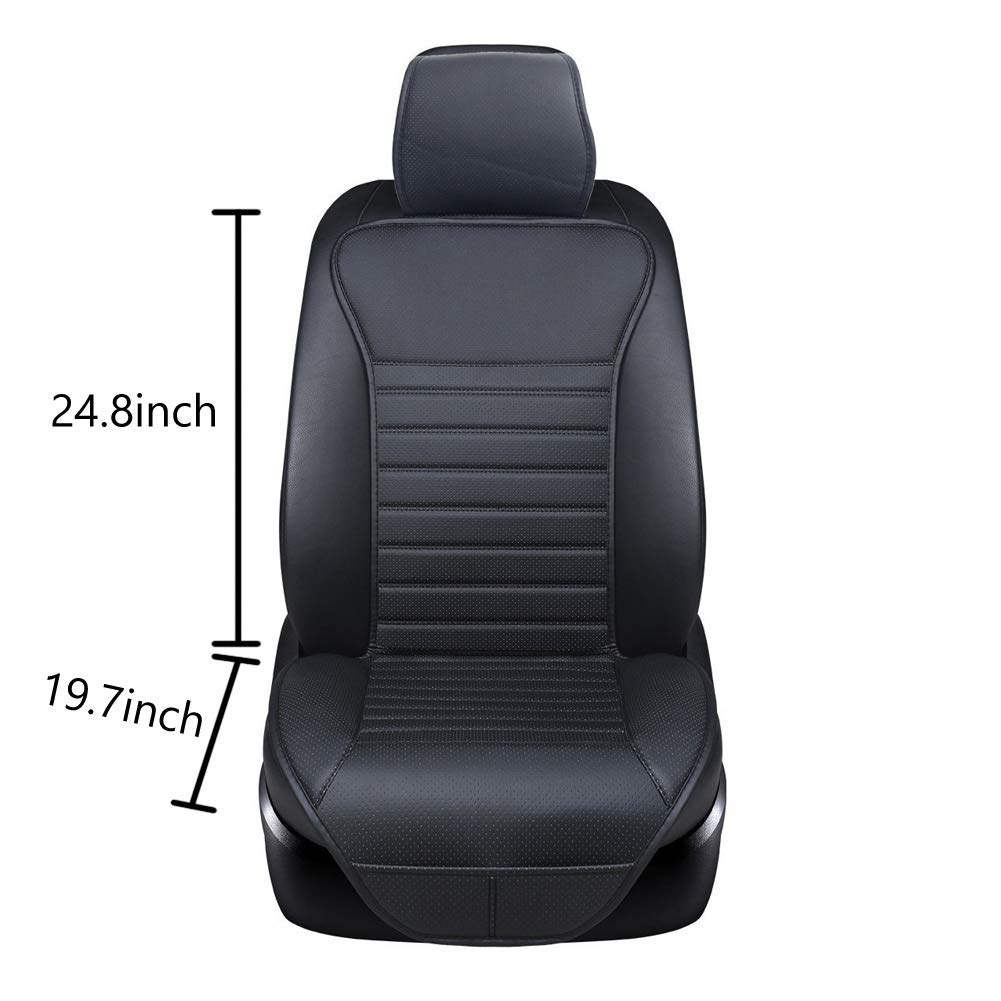 Sleek Design Full Size 2 PCS Breathable Universal Four Seasons Interior Front or Back Seat Covers for Auto Supplies Office Chair with PU Leather Gray Big Ant Car Seat Cushion