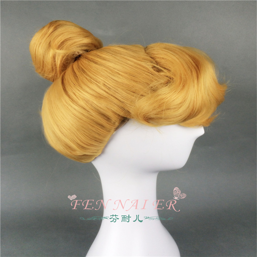Disney Princess Cinderella Blonde Style Synthetic Cosplay Wig+Free Wig Cap