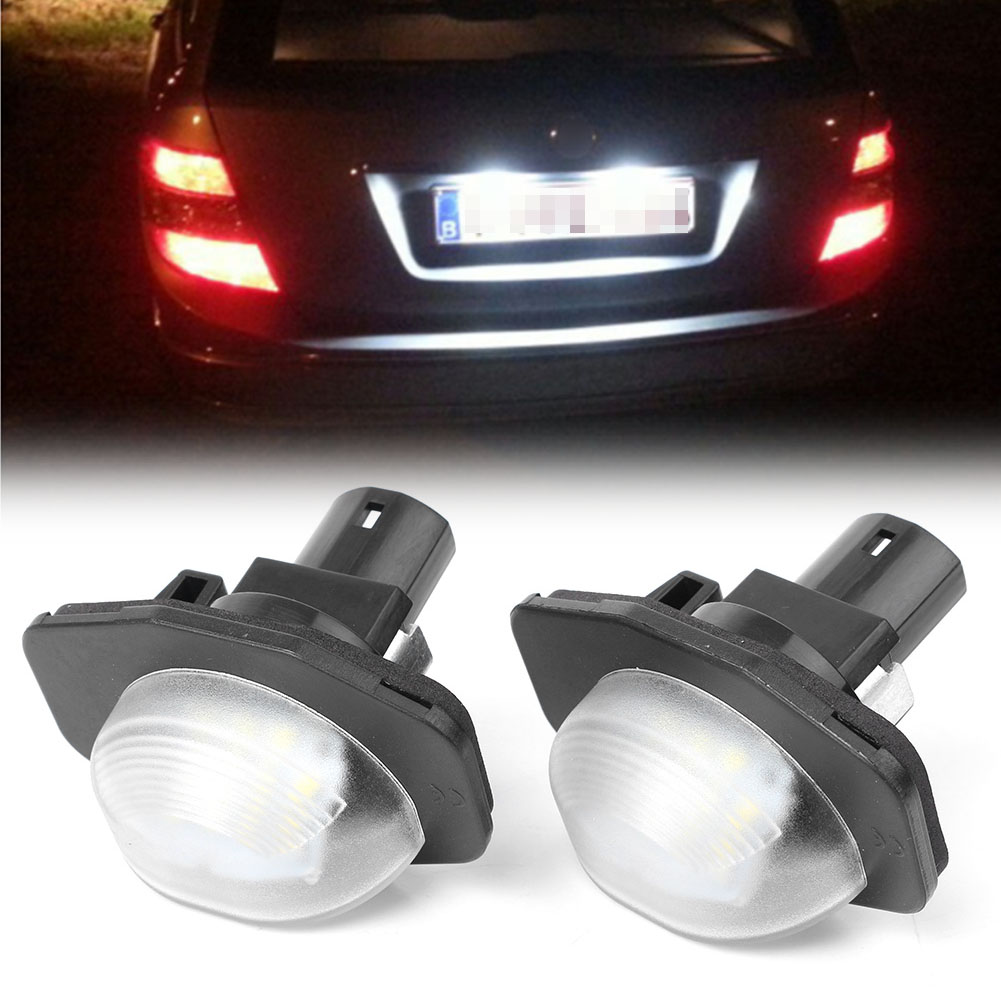 2x White LED License Plate Lights Dircet Fit Toyota Corolla Sienna Scion xB xD