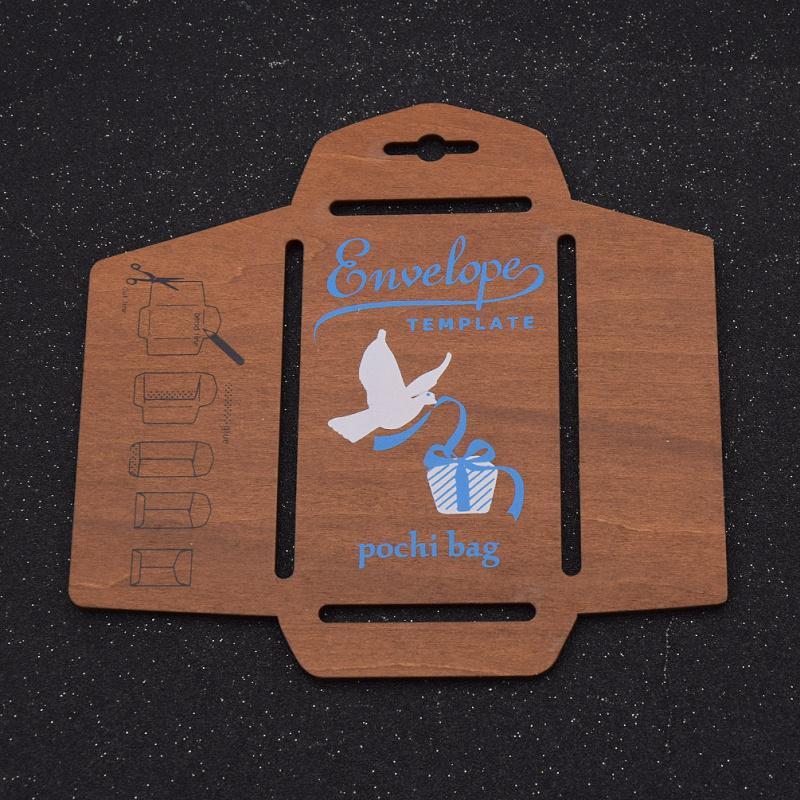 DIY Holz  Briefschablone Briefumschlag Schablone Kreativ Vintage Papier Basteln