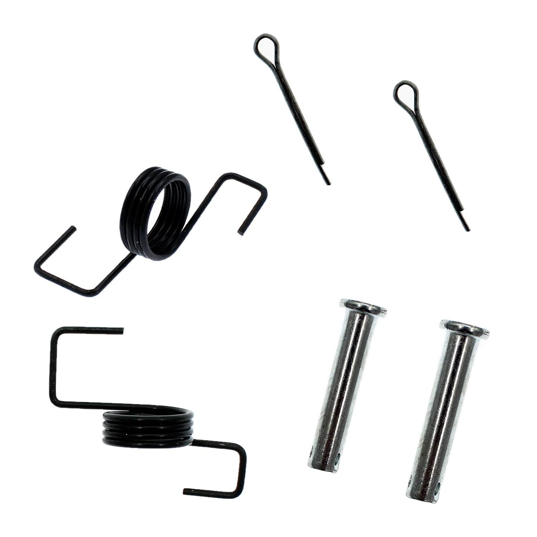 QAZAKY Black Foot Pegs Rest Footpegs Replacement for Yamaha PW50 PW80 BW80 DT50 RT100 RT180 T225S TT225T TTR110 TTR50E TTR90 TW200 WR200 WR250 WR500 XT250 XT350 XT600 YZ125 YZ250 YZ490 YZ80